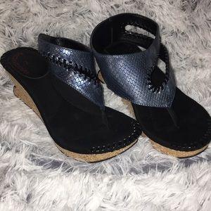 Modzori reversible sandals wedges sz 7